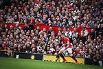 © Joel Goodman - 07973 332324 . 17/05/2015 .  Old Trafford , Manchester , UK . Manchester United fans watching the match . Manchester Utd vs Arsenal at Old Trafford Football Stadium , Manchester . Photo credit : Joel Goodman