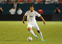 07.08.2013.Miami, Florida, USA.  Sami Khedira (6)   during the second half of the  the final of the Guinness International Champions Cup between Real madrid and Chelsea. The game was won by a score of 3-1 by Real Madrid with Ronaldo scoring a brace.