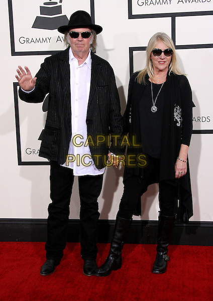 LOS ANGELES, CA - JANUARY 26 - Neil Young, Pegi Young. 56th GRAMMY Awards held at the Staples Center. <br /> CAP/ADM<br /> &copy;AdMedia/Capital Pictures