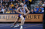 SIOUX FALLS, SD - NOVEMBER 11: Colton Carlson from South Dakota State battles with Christian Pagdilao from Arizona State during their 157 pound match Sunday afternoon at the Sanford Pentagon in Sioux Falls, SD.  (Photo by Dave Eggen/Inertia)