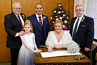 Rebecca Symmonds and Nick wedding at the Registry Office, Civic Centre, Swansea, Wales, UK. 30 January 2018