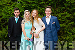 l-r Jakub Dzuikoba, Lucia Dzuikoba, Jennifer Murphy and Finan O'Donoghue enjoying the Killarney Schools Debs at the Earl of Desmond Hotel on Monday