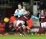 West Ham's Pedro Obiang tussles with Tottenham's Ryan Mason<br /> <br /> - English Premier League - West Ham Utd vs Tottenham  Hotspur - Upton Park Stadium - London - England - 2nd March 2016 - Pic David Klein/Sportimage