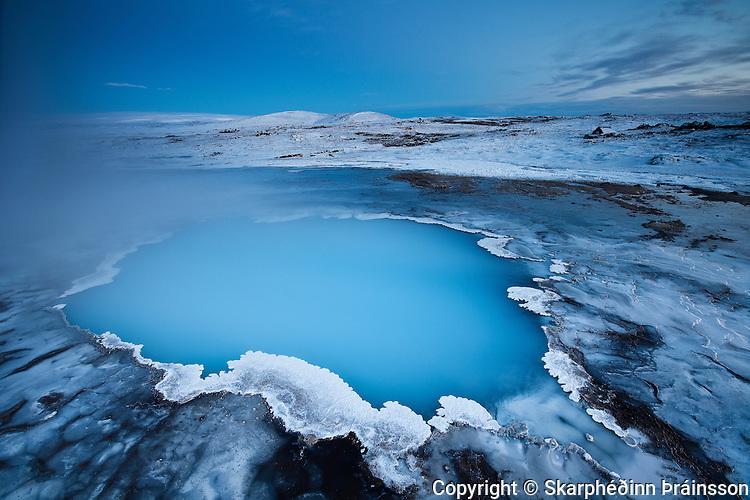 Blue Pool / Bláhver in Hveravellir, central highlands Iceland