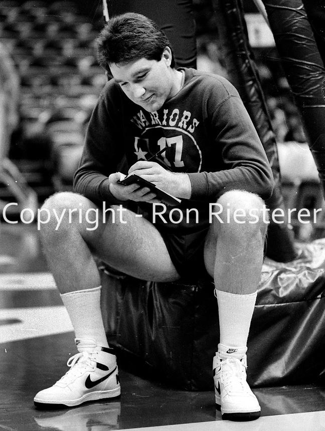 Golden State Warriors Chris Mullin...(1985 photo/Ron Riesterer)