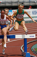 Roisin McGettigan of Ireland ran 9:39.41sec in her heat of the 3000m steeplechase at the 11th. IAAF World Championships on Saturday, August 25, 2007. Photo by Errol Anderson,The Sporting Image.