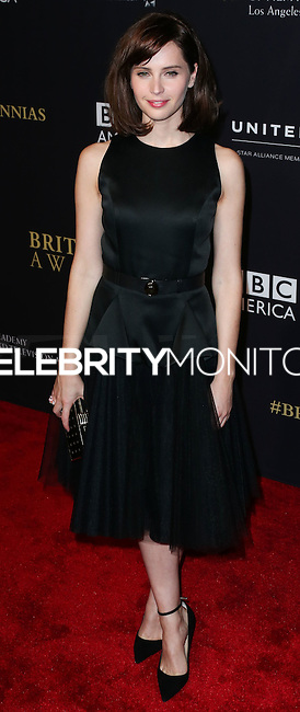 BEVERLY HILLS, CA, USA - OCTOBER 30: Felicity Jones arrives at the 2014 BAFTA Los Angeles Jaguar Britannia Awards Presented By BBC America And United Airlines held at The Beverly Hilton Hotel on October 30, 2014 in Beverly Hills, California, United States. (Photo by Xavier Collin/Celebrity Monitor)