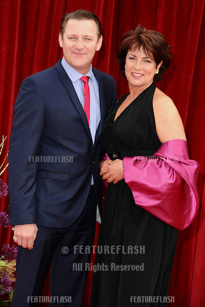 Chris Walker and Jan Pearson arrives at the British Soap awards 2011 held at the Granada Studios, Manchester..14/05/2011  Picture by Steve Vas/Featureflash