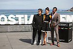 Actors Jose Luis Garcia, Eduard Fernandez and Elena Anaya pose during `Lejos del mar´ film presentation at 63rd Donostia Zinemaldia (San Sebastian International Film Festival) in San Sebastian, Spain. September 24, 2015. (ALTERPHOTOS/Victor Blanco)
