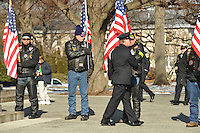 Family, friends, colleagues and fellow firefighters from throughout Maryland say goodbye to one of their own at the funeral for the fallen Mark Falkenhan at the Cathedral of Mary Our Queen on Monday, January 24, 2011.