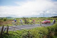 5 men breakaway group of the day: Gert Dockx (BEL/Lotto-Belisol), Giorgio Cecchinel (ITA/Neri Sottoli), Yonder Godoy (VEN/Androni Giocattoli), Miguel Angel Rubiano (COL/Columbia) &amp; Maarten Tjallingii (NLD/Belkin)<br /> <br /> Giro d'Italia 2014<br /> stage 3: Armagh - Dublin 187km
