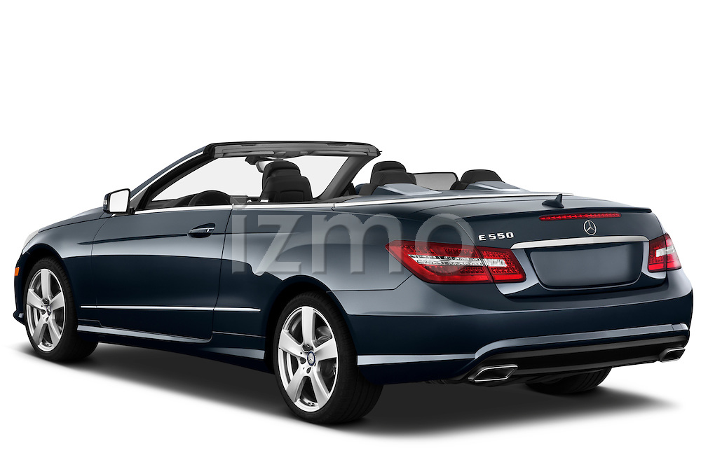 Rear three quarter view of a 2011 Mercedes E 550 Convertible