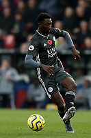 3rd November 2019; Selhurst Park, London, England; English Premier League Football, Crystal Palace versus Leicester City; Wilfred Ndidi of Leicester City  - Strictly Editorial Use Only. No use with unauthorized audio, video, data, fixture lists, club/league logos or 'live' services. Online in-match use limited to 120 images, no video emulation. No use in betting, games or single club/league/player publications