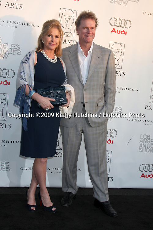 Kathy & Rick Hilton arriving at the 14th Annual Los Angeles Antiques Show Opening Night Preview Party Benefiting P.S. Arts at Barker Hanger in.Santa Monica, California on April 22, 2009.©2009 Kathy Hutchins / Hutchins Photo....                .