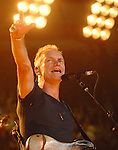 The Police perform during their reunion tour at the Toyota Center in Houston,Texas June 29,2007.