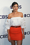Stephanie Sigman arrives at the CBS Upfront at The Plaza Hotel in New York City on May 17, 2017.
