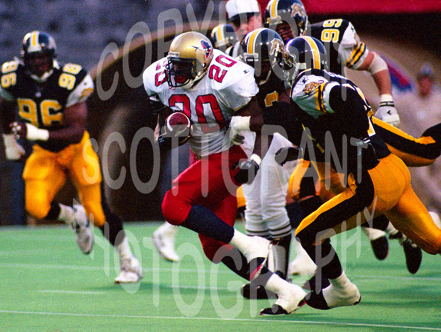 Darren Joseph Ottawa Rough Riders 1994. Photo Scott Grant