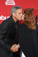 "LOS ANGELES - OCT 22:  George Clooney, Julianne Moore at the ""Suburbicon"" Premiere at the Village Theater on October 22, 2017 in Westwood, CA"