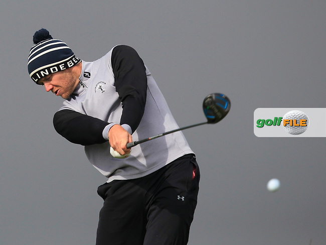 Peter O'Keeffe (Douglas) on the 8th tee during Round 3 of the Flogas Irish Amateur Open Championship 2017 at Royal County Down on Saturday 13th May 2017.<br /> Photo: Golffile / Thos Caffrey.<br /> <br /> All photo usage must carry mandatory copyright credit     (&copy; Golffile   Thos Caffrey)