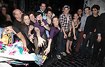 Aaron J. Albano with Andy Richardson, Kara Lindsay, Jeremy Jordan & Company.attending the Actors' Equity Broadway Opening Night Gypsy Robe Ceremony for Aaron J. Albano in.'Newsies - The Musical' at the Nederlander Theatre in NewYork City on 3/29/2012