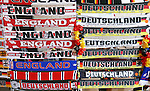 England and Germany scarves on show before the International Friendly match at Olympiastadion.  Photo credit should read: David Klein/Sportimage