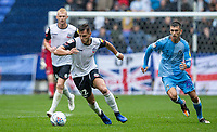 Bolton Wanderers' Dennis Politic breaks away from Coventry City's Zain Westbrooke <br /> <br /> Photographer Andrew Kearns/CameraSport<br /> <br /> The EFL Sky Bet Championship - Bolton Wanderers v Coventry City - Saturday 10th August 2019 - University of Bolton Stadium - Bolton<br /> <br /> World Copyright © 2019 CameraSport. All rights reserved. 43 Linden Ave. Countesthorpe. Leicester. England. LE8 5PG - Tel: +44 (0) 116 277 4147 - admin@camerasport.com - www.camerasport.com