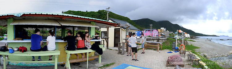 Orchid Island (蘭嶼), Taiwan -- Beach bar at Hongtou (紅頭) Village