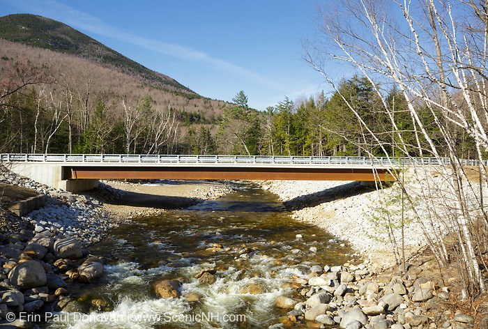 Route 302 bridge in Harts Location, New Hampshire from Forth Iron railroad bridge. These bridges cross the Sawyer River in the White Mountains. The Sawyer River Railroad (1877-1928), traveled along side of this river and through the village of Livermore.