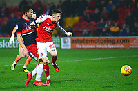 Fleetwood Town's Ashley Hunter scores his side's second goal <br /> <br /> Photographer Richard Martin-Roberts/CameraSport<br /> <br /> The EFL Sky Bet League One - Fleetwood Town v Doncaster Rovers - Wednesday 26th December 2018 - Highbury Stadium - Fleetwood<br /> <br /> World Copyright &not;&copy; 2018 CameraSport. All rights reserved. 43 Linden Ave. Countesthorpe. Leicester. England. LE8 5PG - Tel: +44 (0) 116 277 4147 - admin@camerasport.com - www.camerasport.com