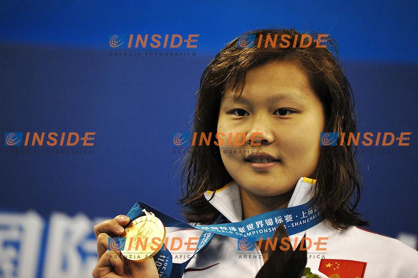 ZHAO Jing CHINA Gold Medal.Women's 100m Backstroke - Swimming / Nuoto.Shanghai 26/7/2011 .14th FINA World Championships.Foto Andrea Staccioli Insidefoto