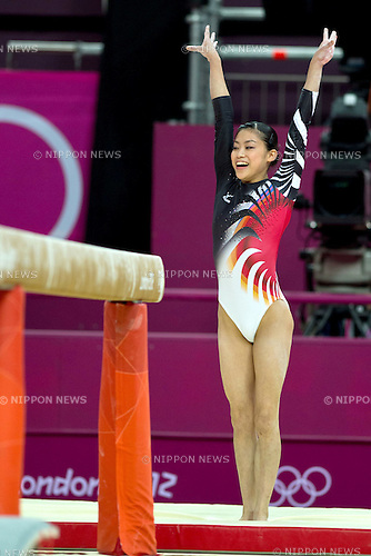 Yuko Shintake (JPN), .JULY 29, 2012 - Artistic Gymnastics : .Women's Qualification .Balance Beam .at North Greenwich Arena .during the London 2012 Olympic Games in London, UK. . (Photo by Enrico Calderoni/AFLO SPORT)