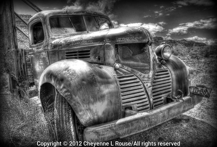 Dodge Bootlegger Truck in Black and White.