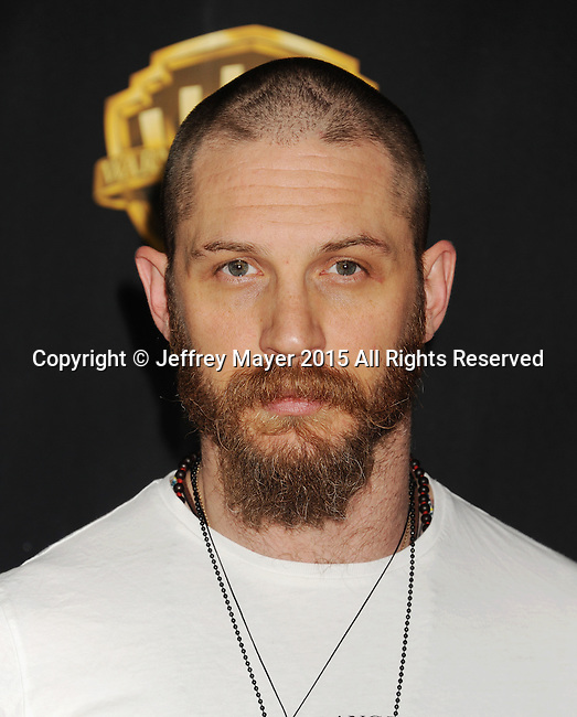 LAS VEGAS, CA - APRIL 21: Actor Tom Hardy arrives at Warner Bros. Pictures Invites You to ?The Big Picture at The Colosseum at Caesars Palace during CinemaCon, the official convention of the National Association of Theatre Owners, on April 21, 2015 in Las Vegas, Nevada.