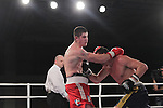 NEWPORT, WALES - November 23:.Joe Ward (IRL) in action against Imre Szello (HUN) in the 80-85kg bout at the World Series of Boxing event between British Lionhearts and Dolce & Gabbana Italia Thunder at The Celtic Manor Resort in Wales..23.11.12..©Steve Pope - Sportingwales