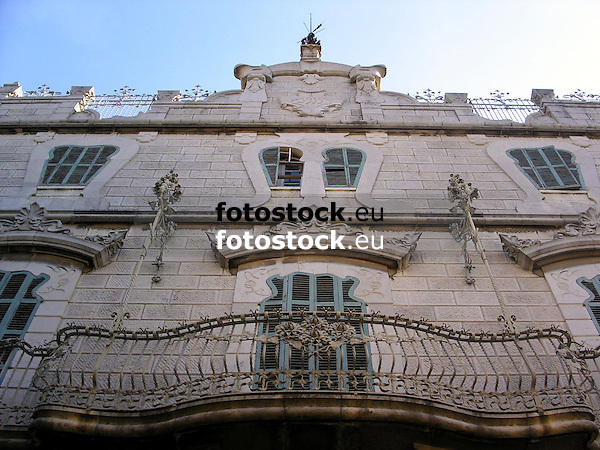 Facade of the modernist building Can Prunera (1909-1911)<br /> <br /> Fachada de la casa modernista Can Prunera (1909-1911)<br /> <br /> Fassade des Jugendstil-Hauses Can Prunera (1909-1911)<br /> <br /> 2272 x 1704 px<br /> 150 dpi: 38,47 x 28,85 cm<br /> 300 dpi: 19,24 x 14,43 cm