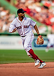 22 June 2019: Boston Red Sox shortstop Xander Bogaerts in action during the 8th inning against the Toronto Blue Jays at Fenway :Park in Boston, MA. The Blue Jays rallied to defeat the Red Sox 8-7 in the 2nd game of their 3-game series. Mandatory Credit: Ed Wolfstein Photo *** RAW (NEF) Image File Available ***