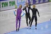 SCHAATSEN: HEERENVEEN: IJsstadion Thialf, 11-11-2012, KPN NK afstanden, Seizoen 2012-2013, 1000m Heren, Nederlands kampioen, Kjeld Nuis, Pim Schipper, ©foto Martin de Jong