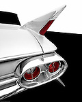 The 1961 Cadillac tail fin is very similar to the 1960, but the car is not considered to be as desireable among collectors.
