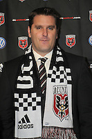 DC United Head Coach Curt Onalfo. During the presentation of the new Head Coach for the 2010 season at RFK Stadium, Tuesday January 5, 2010.