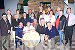 Launching the World Bodhran Championships in Bleachfields, Milltown on Friday night were front row l-r: John Clifford, Dan Cronin, John Farrell, Liam Hurley, Johnny O'Connor. Back row: Michael O'Shea, Ray Nolan, Jill King, Maurice McSweeney, Joan Breen, Des O'Neill, Ronnie Moore, Andrew Byrne, Bernie Byrne, Tim Wrenn, Margaret Wrenn, George McAulliffe, Carina Courtney and Bernard Cronin   Copyright Kerry's Eye 2008