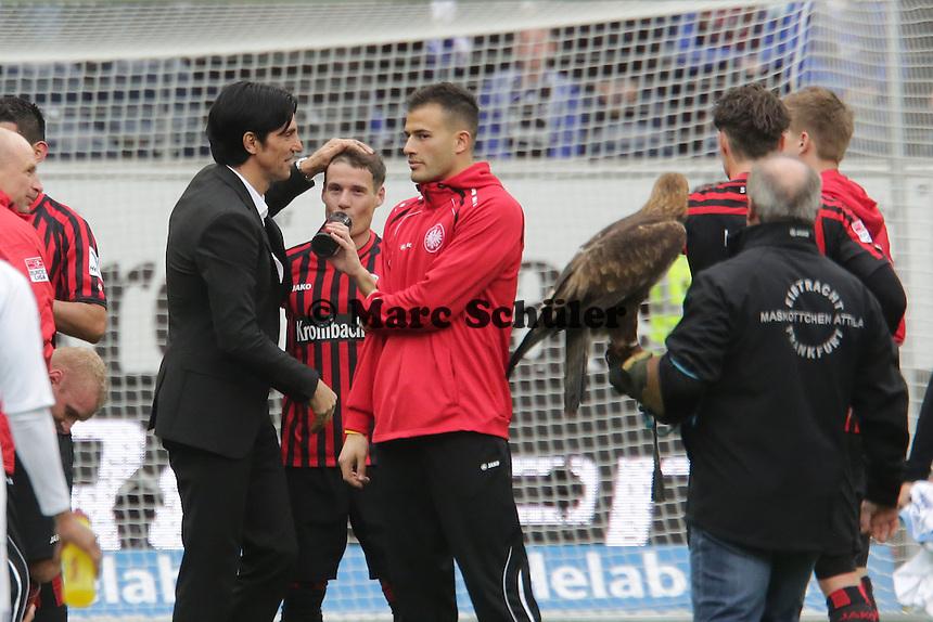 Siegesjubel Eintracht Frankfurt
