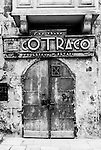 A rustic old door in Valletta, Malta
