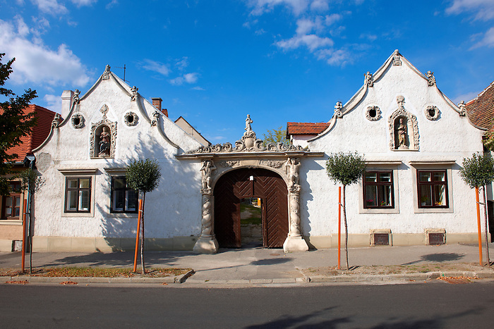 The two Moors House (Két mór ház).  Rustic Baroque architecture - Sopron, Hungary