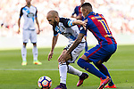 Deportivo de La Coruna's Pedro Mosquera  and FC Barcelona's Neymar Santos Jr during the La Liga match between Futbol Club Barcelona and Deportivo de la Coruna at Camp Nou Stadium Spain. October 15, 2016. (ALTERPHOTOS/Rodrigo Jimenez)