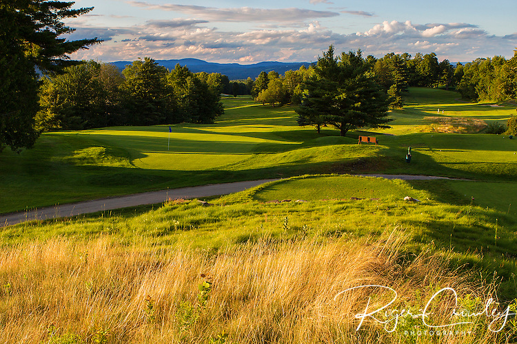 Country Club of Barre in Plainfield Vermont. This is a look at the green and fairway on the 10th hole.