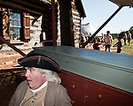 October 03, 2009. Statesville, North Carolina..18th century trade fair and French_indian War reenactment at Fort Dobbs