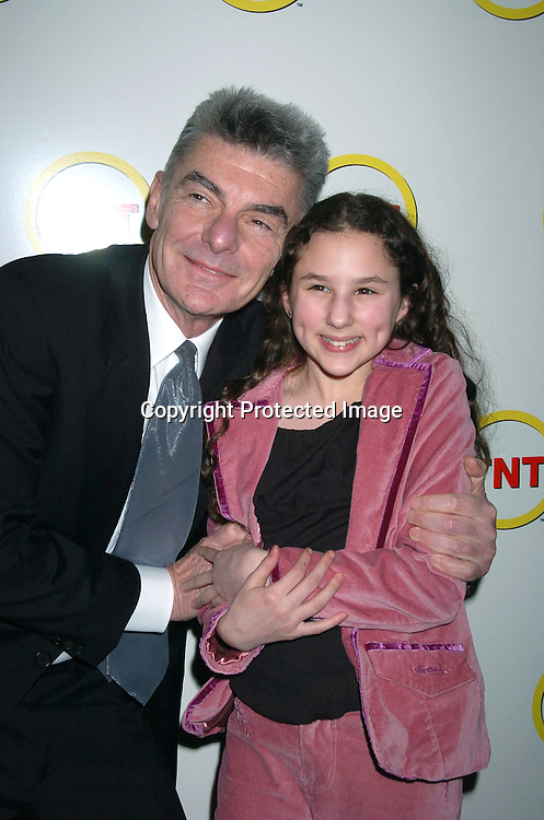 """Richard Benjamin and Hallie Kate Eisenberg..at a special screening of """"The Goodbye Girl"""" on January 12, 2004 at the Cinema 1 in New York City. It will be seen on TNT"""