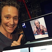 Early Man (2018) <br /> Tom Hiddleston and Director Nick Park on the set <br /> *Filmstill - Editorial Use Only*<br /> CAP/FB<br /> Image supplied by Capital Pictures