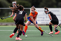 Hawkes Bay v Tauranga. Action during the U-15 Premier Girls Hockey Nationals. North Harbour Hockey, Auckland, New Zealand. Monday 4 October 2017. Photo:Simon Watts / www.bwmedia.co.nz