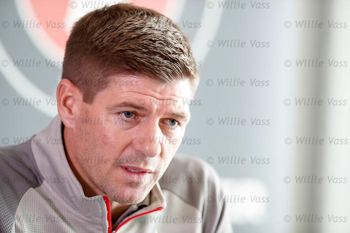07.08.2019 FC Midtjylland and Rangers pressers: Steven Gerrard